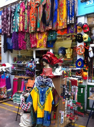 shopping at Brixton Village, London