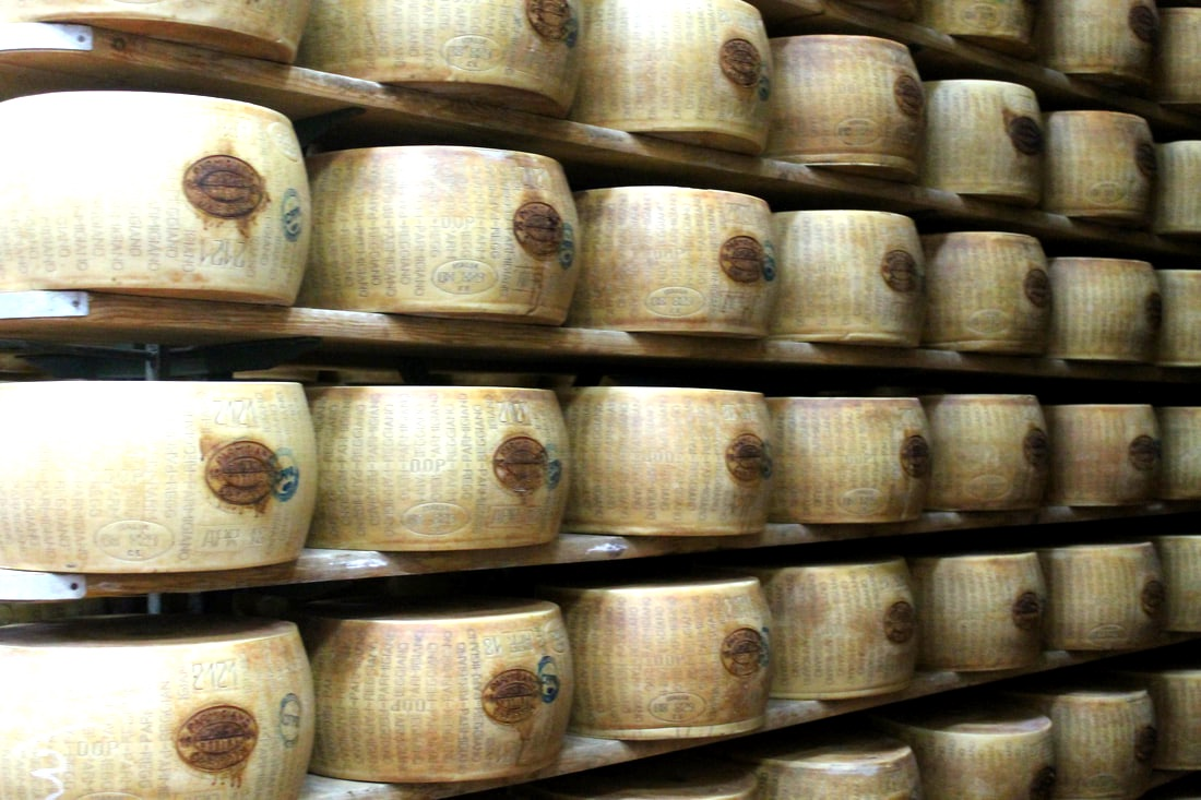 Parmigiano Reggiano cheese wheels
