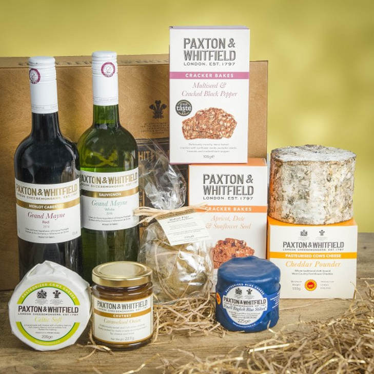 Destination Delicious Christmas gift guide for foodies -  cheese hamper from Paxton & Whitfield