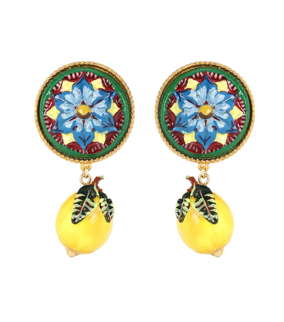 lemon clip-on earrings by Dolce & Gabbana