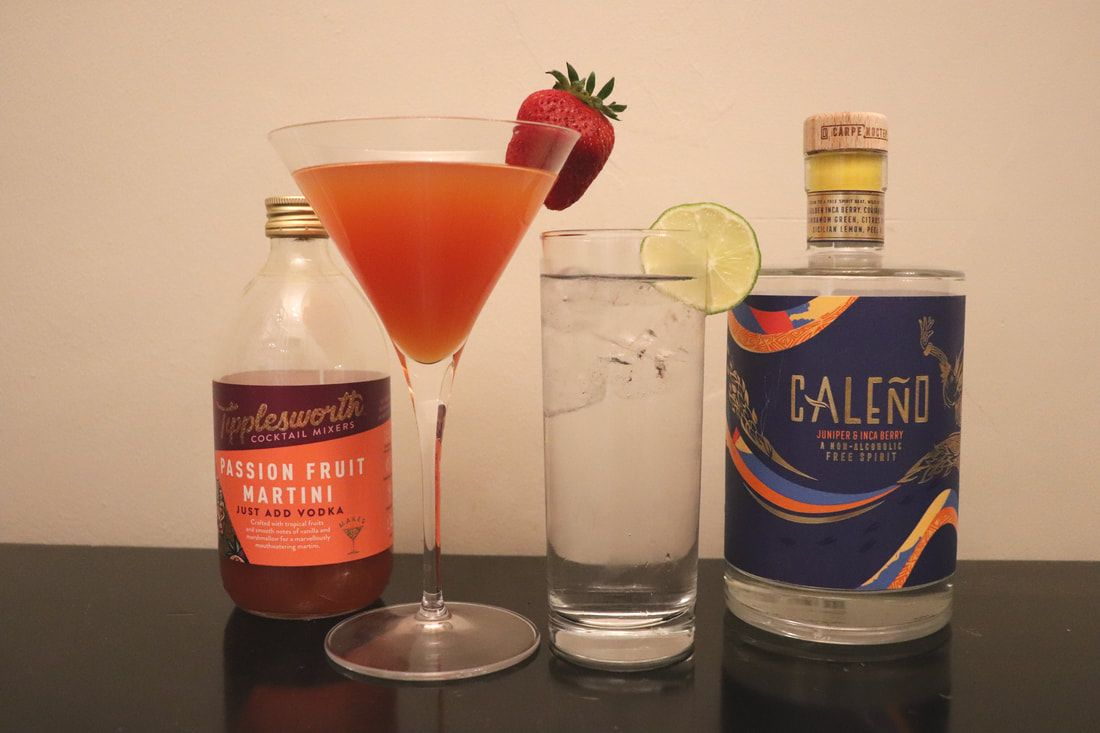 Destination Delicious reviews two fabulous new summer drinks mixers - Caleno and Tipplesworth Passionfruit Martini