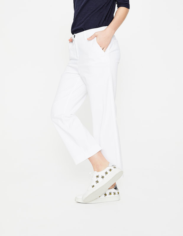 wide crop chino trousers by Boden